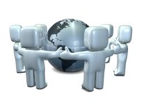 Business international teamwork Stock Images