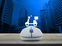 Business internet delivery service concept Stock Photos