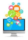 Business Internet for Different Electronic Devices Stock Image