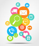 Business Internet on Different Electronic Devices Stock Image