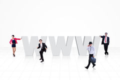 Business internet isolated Royalty Free Stock Photography