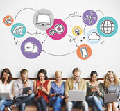 Internet Network Communication Connection Concept stock photo