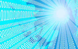 Business, internet and technology concept - close up of data stream. 3D illustration Royalty Free Stock Photo
