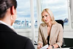 Business Interview Royalty Free Stock Photos