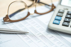 Business investment analysis chart of accounts. Stock Image