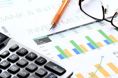 Business Investment Analysis Royalty Free Stock Photography