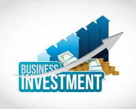 Business investment cash and graph sign concept Royalty Free Stock Photography