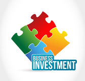 Business investment color puzzle piece Royalty Free Stock Photo