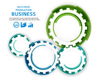 Business investment concept brush effect it draw gear Stock Photo