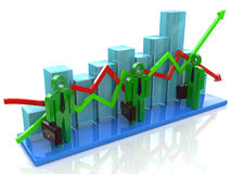 Business investment diagram Stock Images