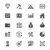 Business and investment flat icons Royalty Free Stock Photography