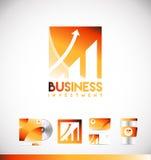 Business investment graph logo icon design stock illustration