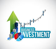 Business investment graphs and charts concept Stock Image