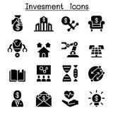 Business investment icon set. Vector illustration graphic design Stock Photography
