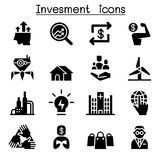 Business investment icon set. Vector illustration graphic design Stock Images