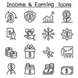 Business investment, Income ,earning icon set Royalty Free Stock Images