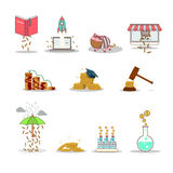 Business and investment isolated cartoon pack Royalty Free Stock Photo
