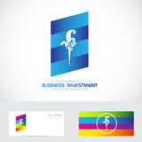 Business investment logo Royalty Free Stock Photo