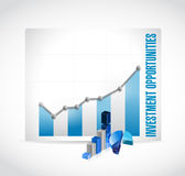 Business investment opportunities graphs Royalty Free Stock Photography