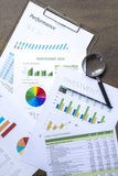 Business Investment and Performance Reports Royalty Free Stock Image