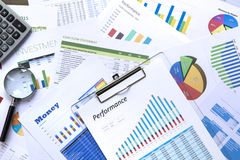 Business Investment and Performance Reports Stock Photography