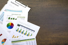 Business Investment and Performance Reports Royalty Free Stock Photo