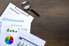 Business Investment and Performance Reports Stock Images