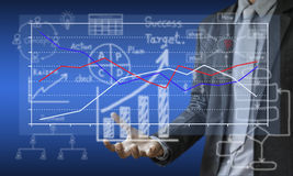 Business investment planning graphs. Stock Images