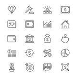 Business and investment thin icons Stock Images