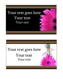 Business invitation cards. With flowers Stock Image