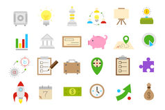 Business isolated strategy vector icons  set Stock Photography
