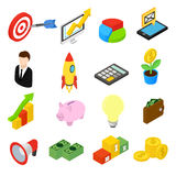 Business isometric icons set Stock Photography