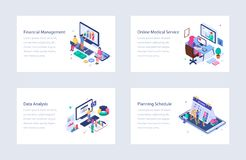 Business Isometric Vector Illustrations Pack stock photo