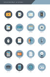 Business item flat design icon set.  Royalty Free Stock Photos