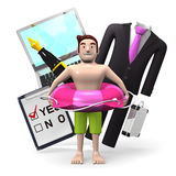Business Item And Man Who Is In Vacation Royalty Free Stock Photography