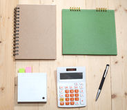 Business   Item Set On  Wooden Royalty Free Stock Images