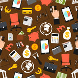 Business items vector seamless pattern Stock Photo