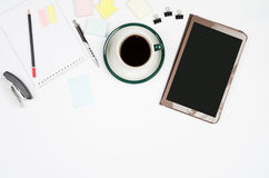 Business objects on a white background or desk. Royalty Free Stock Images
