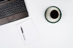 Business objects on a white background or desk. Stock Image