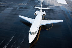 Business JET. FALCON 2000EX shot from above Royalty Free Stock Images