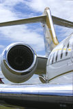 Business jet. Shiny business jet showing engine nacelle royalty free stock photography