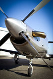 Business Jet. Close view of the front of the business jet Stock Photo