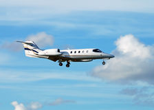 Business jet airplane Royalty Free Stock Images