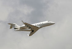 Business jet airplane Stock Photo