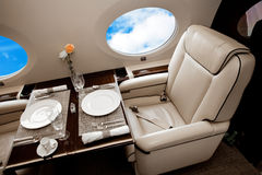 Business Jet airplane interior Royalty Free Stock Photography