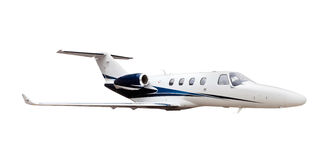 Business Jet airplane isolated Stock Photography