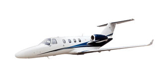 Business Jet airplane isolated Royalty Free Stock Photos