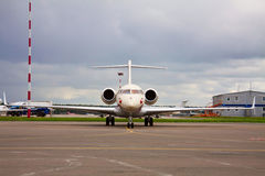 Business jet at the airport Stock Photos