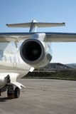 Business jet at an airport Stock Photography