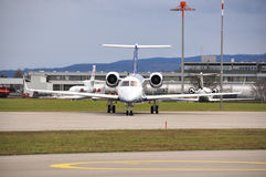 Business jet. In the airport Stock Image